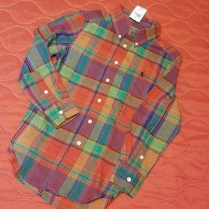Boys Ralph Lauren long sleeve button-up shirt 8
